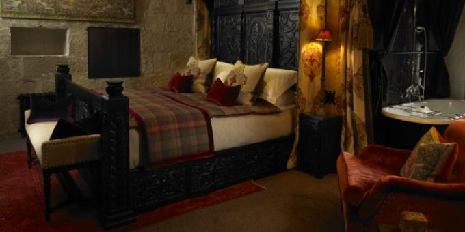 Bedrooms in Borthwick Castle. Every room tells a story